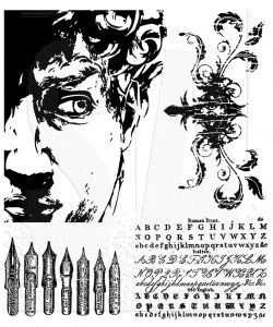Tim Holtz Cling Rubber Stamps ARTFUL ARTIFACTS Stampers Anonymous CMS080