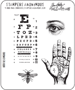 Tim Holtz Cling Rubber Stamps ODDITIES cms083 Stampers Anonymous Preview Image