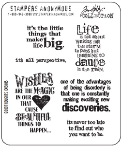 Tim Holtz Cling Rubber Stamps GOOD THOUGHTS Stampers Anonymous CMS085