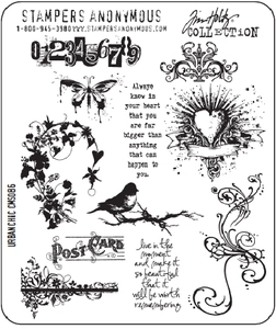 Tim Holtz Cling Rubber Stamps URBAN CHIC cms086 Stampers Anonymous