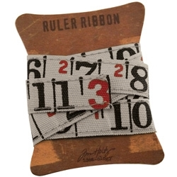 Tim Holtz Idea-ology RULER RIBBON Fabric Canvas Measure TH92830 Preview Image