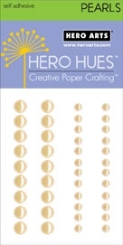 Hero Arts 42 Accent Pearls LIGHT YELLOW CH198