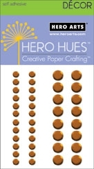 Hero Arts 40 Assorted ORANGE METALLIC Decor Embellishments CH201 Self Adhesive