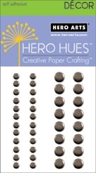 Hero Arts 40 Assorted PEWTER METALLIC Decor Embellishments CH202 Self Adhesive