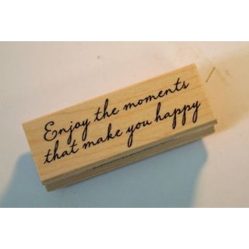 Hero Arts Rubber Stamp ENJOY THE MOMENTS c5372