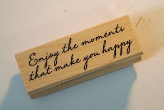Hero Arts Rubber Stamp ENJOY THE MOMENTS c5372 zoom image