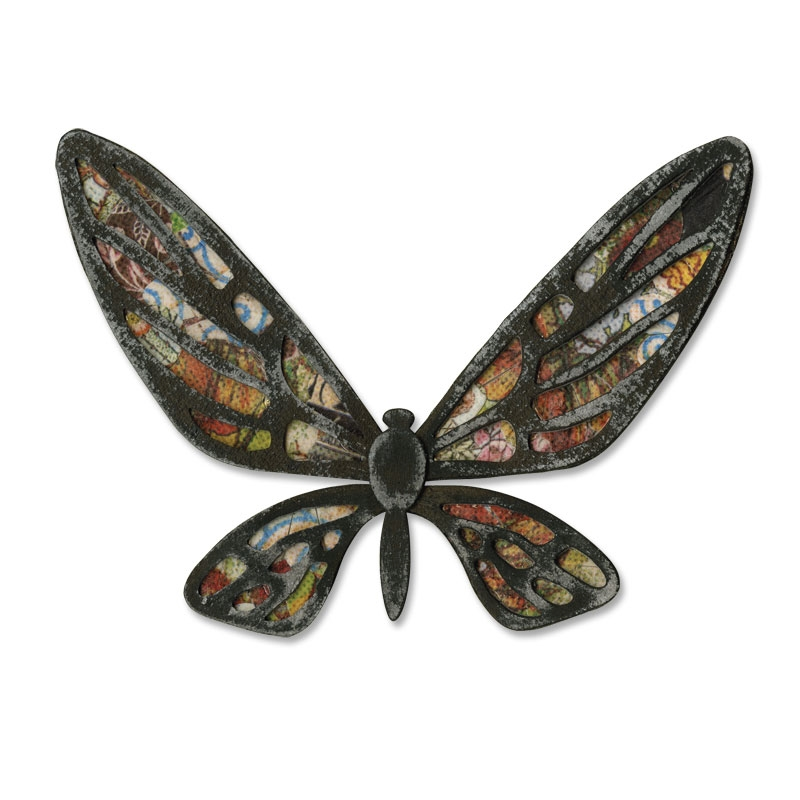 Tim Holtz Sizzix Die FANCIFUL FLIGHT Bigz Butterfly Alterations 656635 zoom image