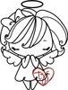 The Greeting Farm ANYA ANGEL Cling Rubber Stamp*