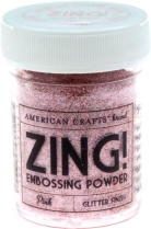 American Crafts Zing! PINK Glitter Embossing Powder