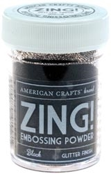 American Crafts Zing! BLACK Glitter Embossing Powder