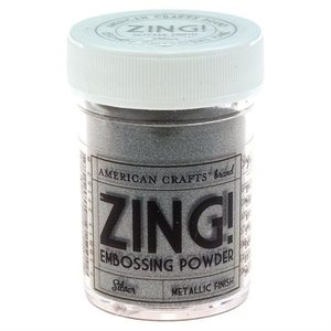 American Crafts Zing! METALLIC SILVER Embossing Powder