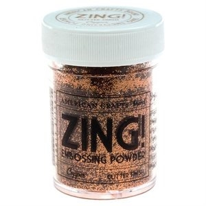 American Crafts Zing! COPPER GLITTER Embossing Powder