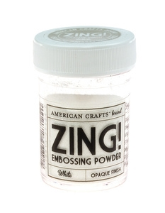 American Crafts Zing! OPAQUE White Embossing Powder