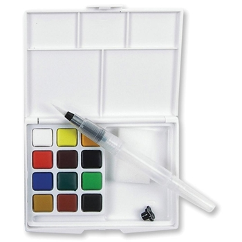 Sakura KOI WATERCOLORS SKETCH BOX 12 Colors with Waterbrush XNCW12H*
