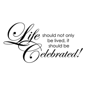 Penny Black Rubber Stamp CELEBRATE LIFE 4069F Preview Image