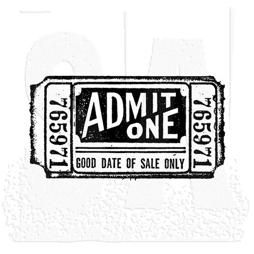 Tim Holtz Rubber Stamp MOVIE TICKET Stampers Anonymous G2-1525 Preview Image