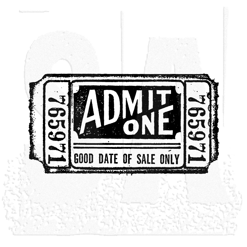 Tim Holtz Rubber Stamp MOVIE TICKET Stampers Anonymous G2-1525 zoom image