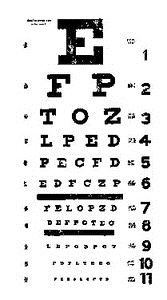 Tim Holtz Rubber Stamp EYECHART Stampers Anonymous P2-1536