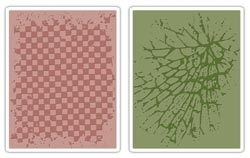 Tim Holtz Sizzix CHECKERBOARD & CRACKED Texture Fades Embossing Folders 656646