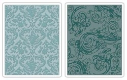 Tim Holtz Sizzix DAMASK & REGAL FLOURISHES Texture Fades 656648 Preview Image