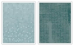 Tim Holtz Dot Matrix and Grid Embossing Folders