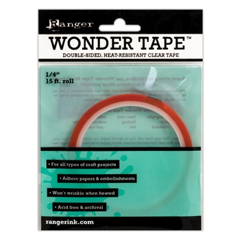 Ranger Inkssentials WONDER TAPE 1/4 Inch Double Sided 15 ft. IWT27386