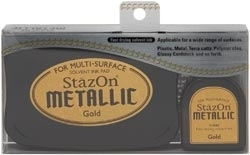 Tsukineko Stazon METALLIC GOLD Ink Pad and Refill SZ-000-191 Preview Image