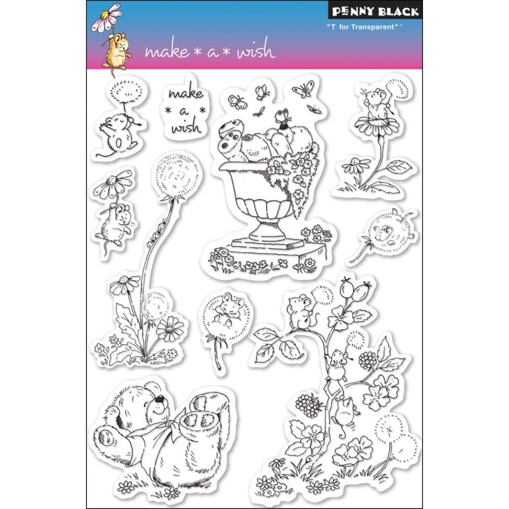 Penny Black Clear Stamps MAKE A WISH 30-052 zoom image