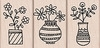Hero Arts Rubber Stamps VASE TRIO
