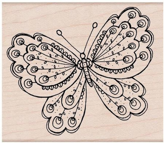 Hero Arts Rubber Stamp ARTISTS BUTTERFLY H5426 zoom image