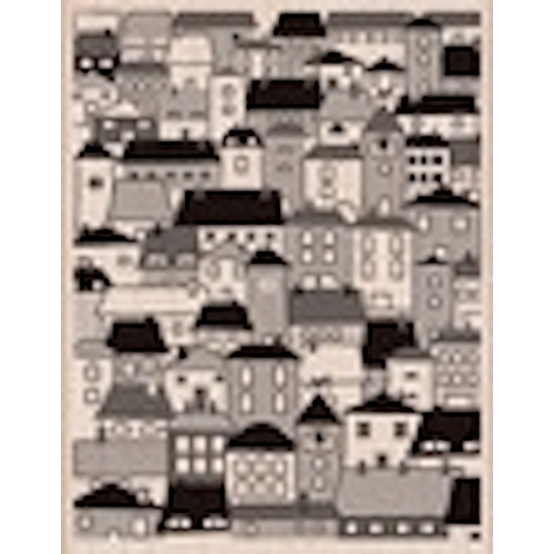 Hero Arts Rubber Stamp Designblock A VILLAGE s5432 Preview Image