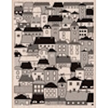 Hero Arts Rubber Stamp Designblock A VILLAGE s5432