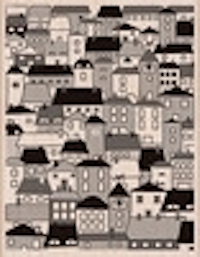 Hero Arts Rubber Stamp Designblock A VILLAGE s5432 zoom image