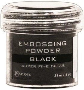 Ranger Embossing Powder SUPER FINE BLACK Detail EPJ37392 Preview Image