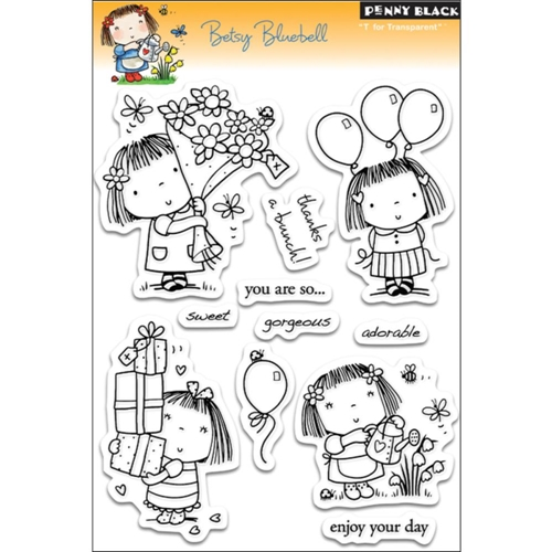 Penny Black Clear Stamps BETSY BLUEBELL 30-053 Preview Image