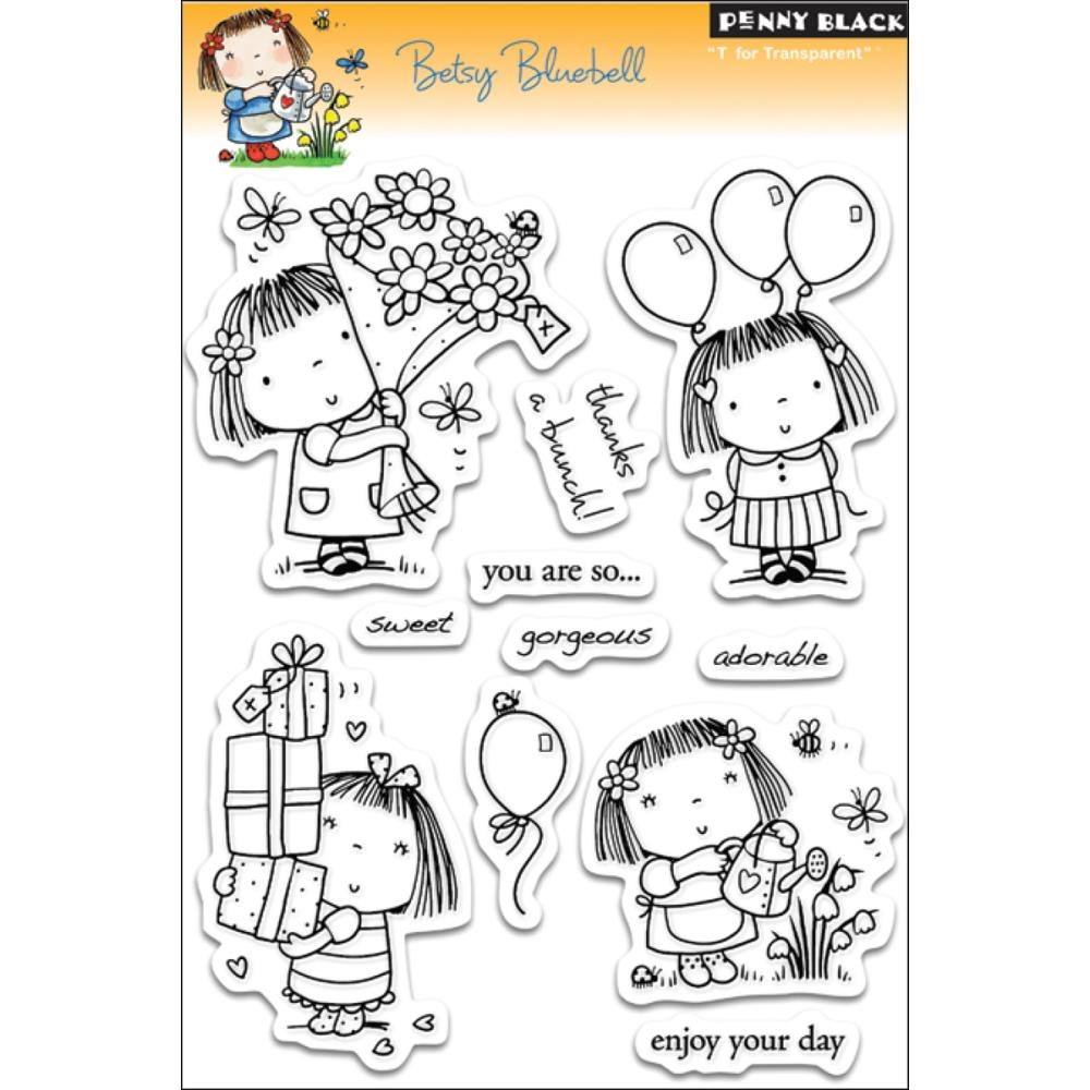 Penny Black Clear Stamps BETSY BLUEBELL 30-053 zoom image