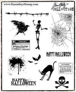 Tim Holtz Cling Rubber Stamps MINI HALLOWEEN cms093 zoom image