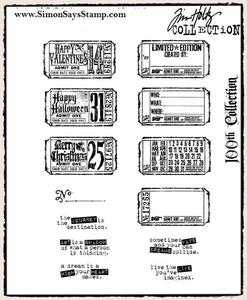 Tim Holtz Cling Rubber Stamps ODDS AND ENDS 100th Set cms100 Preview Image