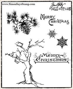 Tim Holtz Cling Rubber Stamps WINTER SKETCHBOOK cms094 Preview Image