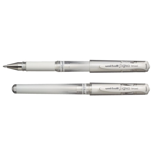 Signo White Medium Uniball gel pen