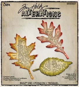 Tim Holtz Sizzix Die TATTERED LEAVES Bigz Alterations 656927 zoom image