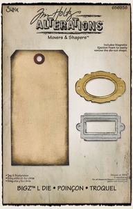 Tim Holtz Sizzix Die TAG & BOOKPLATES Movers And Shapers 656938 zoom image