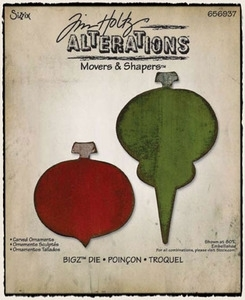 Tim Holtz Sizzix Die CARVED ORNAMENTS #1 Movers & Shapers Alterations 656937