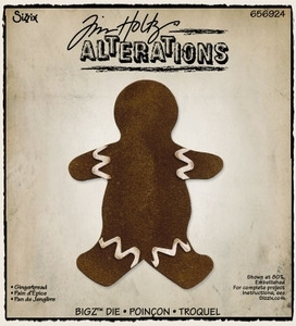 *Tim Holtz Sizzix Die GINGERBREAD Bigz Christmas Alterations