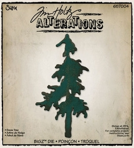 Tim Holtz Sizzix Die PINE TREE Snow Bigz Christmas Alterations 657004