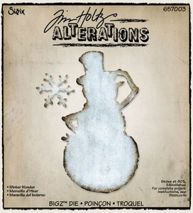 Tim Holtz Sizzix Die WINTER WONDER Bigz Snowman Christmas 657003