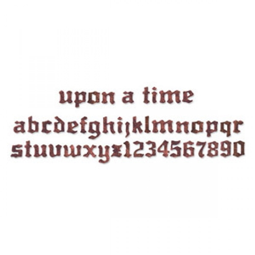 Tim Holtz Sizzix Die UPON A TIME ALPHABET Strip Alterations 656916 Preview Image