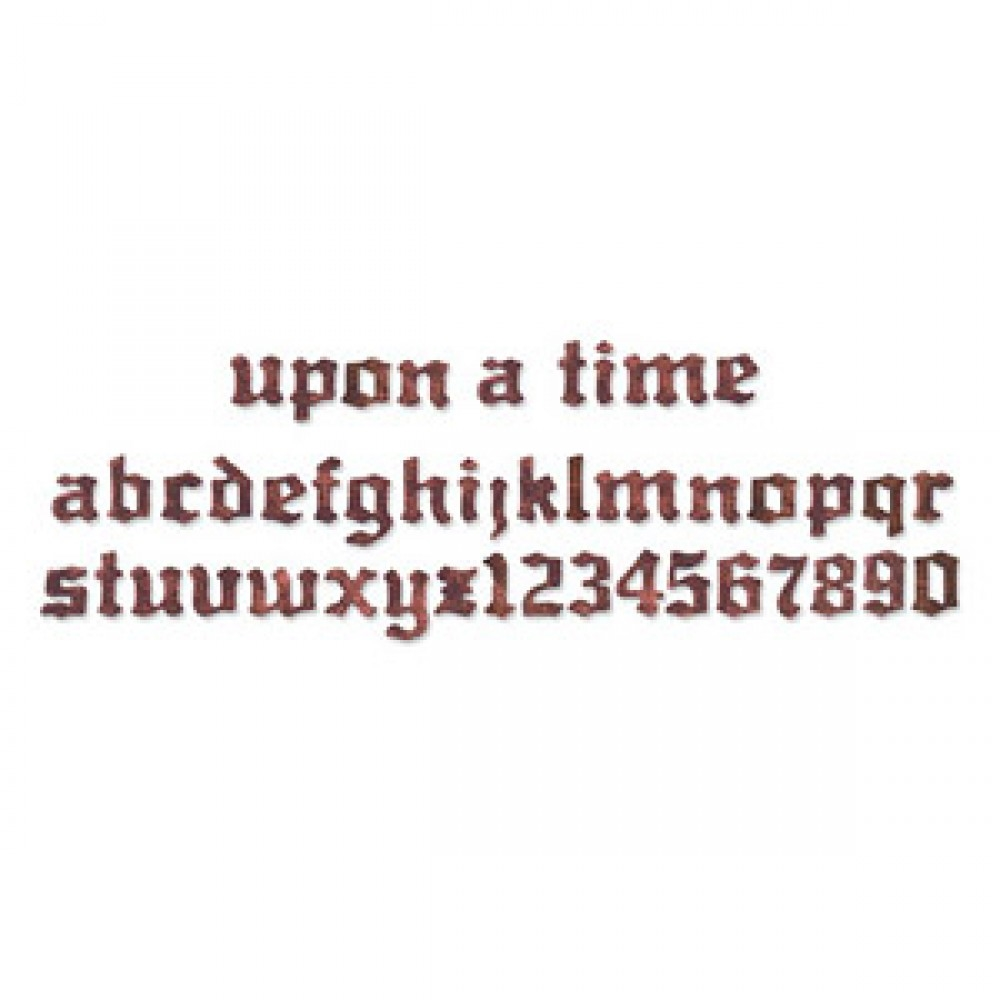 Tim Holtz Sizzix Die UPON A TIME ALPHABET Strip Alterations 656916 zoom image