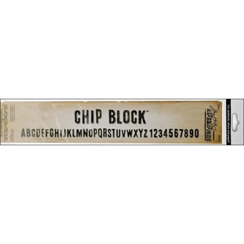 Tim Holtz Sizzix Die CHIP BLOCK ALPHABET Strip Alterations 656917*