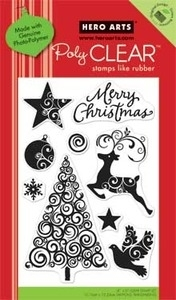 Hero Arts Clear Stamps SWIRL CHRISTMAS Christmas cl469